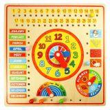 Dřevěné hračky Bigjigs Toys Kalendář s hodinami