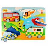 Dřevěné hračky Bigjigs Toys Vkládací puzzle záchranáři