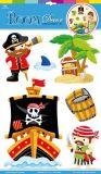 Dřevěné hračky Small Foot Samolepící dekorace na zeď piráti Small foot by Legler