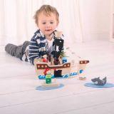 Dřevěné hračky Bigjigs Toys Pirátská loď s piráty