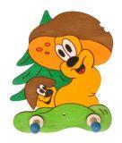 Dřevěné hračky DoDo Dřevěný 2 věšáček hříbci