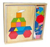 Dřevěné hračky Small Foot Dřevěný hlavolam mozaika v krabičce Small foot by Legler