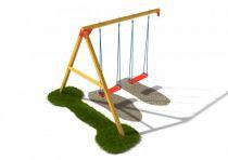 Dřevěné hračky Dřevěné dětské hřiště - Stavebnice - Houpačkový modul plus