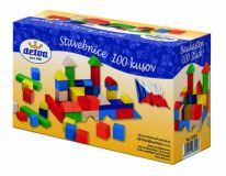 Dřevěné hračky Detoa Dřevěná stavebnice kostky 100 ks