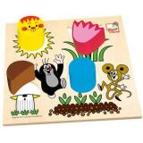 Dřevěné hračky Bino Krabička s tvary Krtek