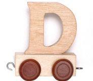 Dřevěné hračky Dřevěný vláček vláčkodráhy abeceda 1ks vagónku - Small foot by Legler