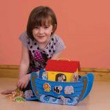 Dřevěné hračky Bigjigs Toys Dřevěná Noemova archa
