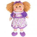 Dřevěné hračky Bigjigs Toys Látková panenka Laura 35 cm
