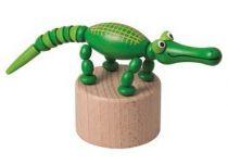 Dřevěné hračky Detoa Mačkací figurka Krokodýl