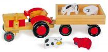 Dřevěné hračky Small Foot Dřevěný traktor s vlečkou a zvířátky Small foot by Legler