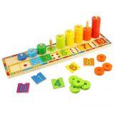 Dřevěné hračky Bigjigs Toys Deska nasazování s čísly