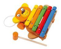 Dřevěné hračky Dřevěné hračky - Dětské hudební nástroje - Xylofón medvěd Small foot by Legler