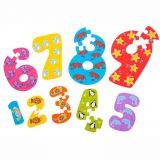 Dřevěné hračky Bigjigs Toys Dřevěné puzzle čísla 1-9