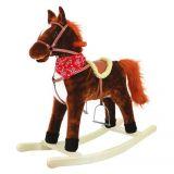 Dřevěné hračky Bino Houpací kůň plyšový Goldy