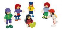 Dřevěné hračky Panenky do domečku - Postavičky kamarádi 6 ks v balení Small foot by Legler