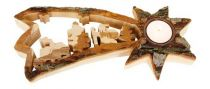 Dřevěné hračky Small Foot Vánoční dekorace stojan na čajovou svíčku létavice Small foot by Legler