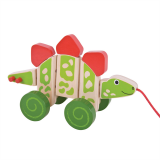 Dřevěné hračky Bigjigs Baby Tahací dinosaurus Bigjigs Toys
