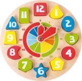 Dřevěné hračky Dřevěné didaktické a motorické hodiny Small foot by Legler