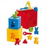 Dřevěné hračky Gowi Krabička na zámek s vhazováním tvarů