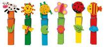 Dřevěné hračky Small Foot Dřevěné dekorativní kolíčky na prádlo barevné 24ks Small foot by Legler