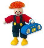 Dřevěné hračky Dřevěné hračky - Panenka do domečku, Max s rádiem Mertens