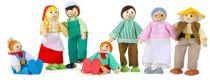 Dřevěné hračky Panenky do domečku - Farmářska rodina 7ks Small foot by Legler
