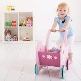 Dřevěné hračky Bigjigs Toys dřevěný růžový kočárek Daisy