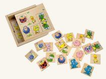 Dřevěné hračky Bino Dřevěné hry Pexeso zvířátka