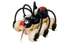 Dřevěné hračky Detoa Tahací pavouk černý