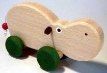 Dřevěné hračky Dřevěné hračky - hračka na kolečkách - Hroch Makovský