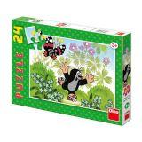 Dřevěné hračky Dino Papírové puzzle Krteček na bruslích 24 dílků