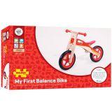 Dřevěné hračky Bigjigs Toys Dřevěné odrážedlo červené