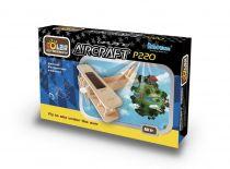 Dřevěné hračky RoboTime - Solární letadlo - Dvojplošník P220