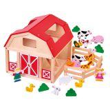 Dřevěné hračky Bino FARMA se zvířátky