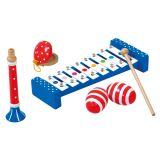 Dřevěné hračky Bino Set hudebních nástrojů