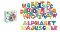 Dřevěné hračky Vilac Dřevěné magnetky tiskací abeceda 56ks