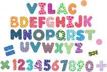 Dřevěné hračky Vilac Magnetická oboustranná tabule s abecedou a čísly