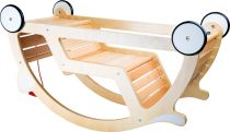 Dřevěné hračky Dřevěné tahací a houpací auto 2v1 Small foot by Legler