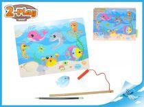 Dřevěná magnetická hra ryby 2-Play
