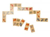 Dřevěné domino v krabičce zvířátka ze safari