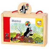 Dřevěné hračky Bino Pexeso v krabičce Krtek 24 dílů