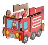 Dřevěné puzzle skládací Záchránářské auta - Hasiči