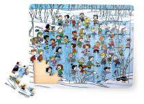Small Foot Dřevěné puzzle zima 48 dílků