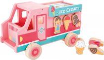 Dřevěné hračky Small Foot Dřevěný vkládací zmrzlinový vůz Small foot by Legler