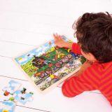Dřevěné hračky Bigjigs Toys Dřevěné puzzle vlak 24 dílků