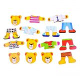 Dřevěné hračky Bigjigs Toys Oblékací puzzle Medvědí rodinka