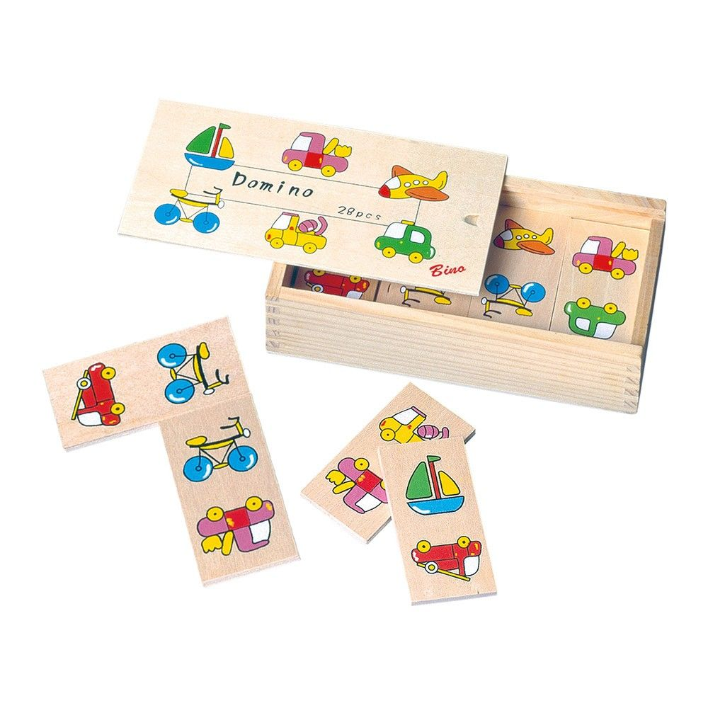 Dřevěné hračky Bino - Domino malé doprava
