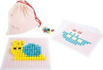 Dřevěné hračky Small Foot Dřevěná skládací mozaika v pytlíku Small foot by Legler
