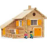 Dřevěná stavebnice Jeujura - 240 dílů - Velký srub