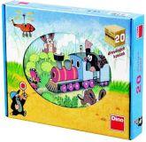 Dřevěné hračky Dino Dřevěné obrázkové kostky Krtek dopravní prostředky 20 ks